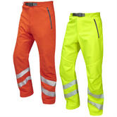 Leo Workwear Landcross Hi-Vis Segmented Tape Soft Shell Quick Drying Stretchable Work Trouser