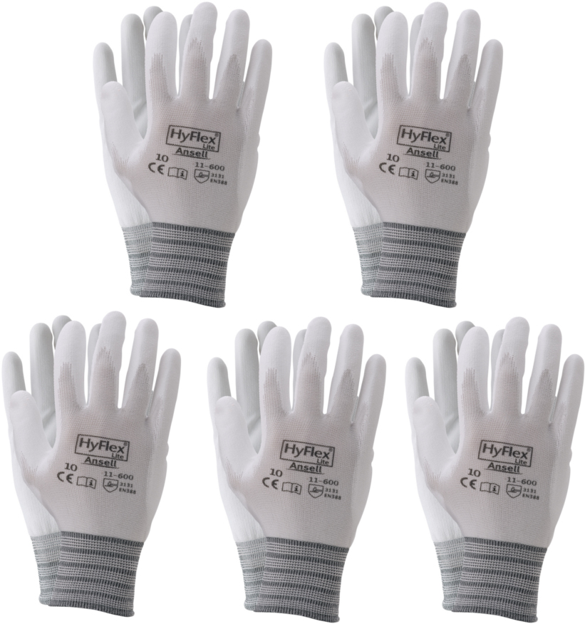 Ansell Hyflex 11-600 Industrial Gripper Glove (5 Pack)