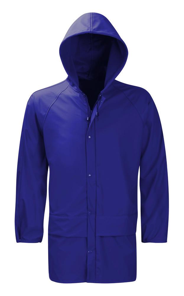 Orbit HJF Oak Hydra-Flex Waterproof PU Coating Breathable Hooded Navy Work Raincoat Jacket