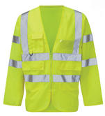 Orbit Pembridge Long Sleeve High Vis Yellow Jacket HVJPKT