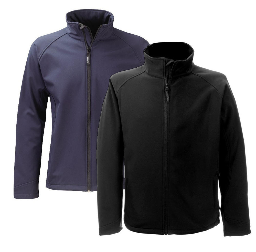 Panacea SS2G1 Fleece Softshell Flint 2 Layer Water Repellant Black Breathable Jacket