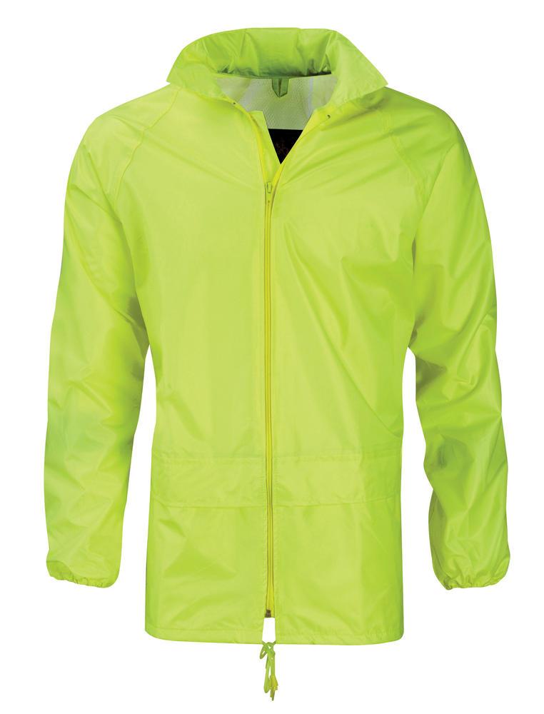 Orbit Pacific Hi Vis Waterproof Polyester PVC Coating Rain Jacket