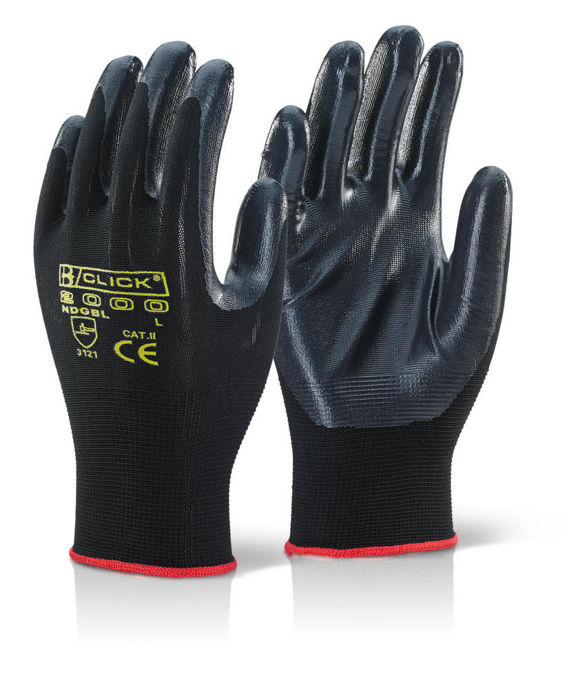 Click 2000 Ndgbl Nite Star Black Nitrile Coated Glove