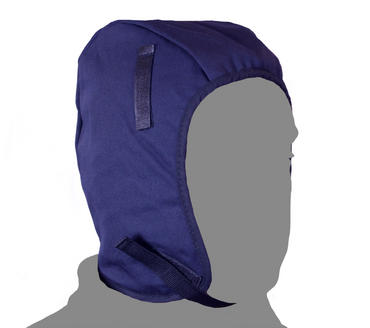 Rb405 100% Cotton Thermal Helmet Liner With Fleece Lining Velcro Fastening