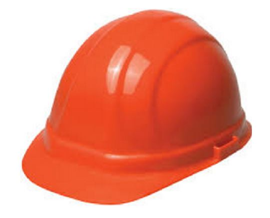 Omega Chemical 6-pt Ratchet Hard Hat Orange Helmet
