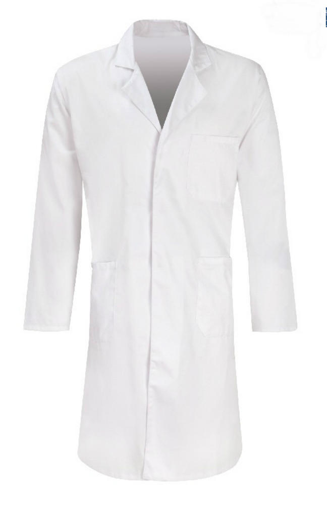 Orbit White Polycotton Warehouse Coat PC205W
