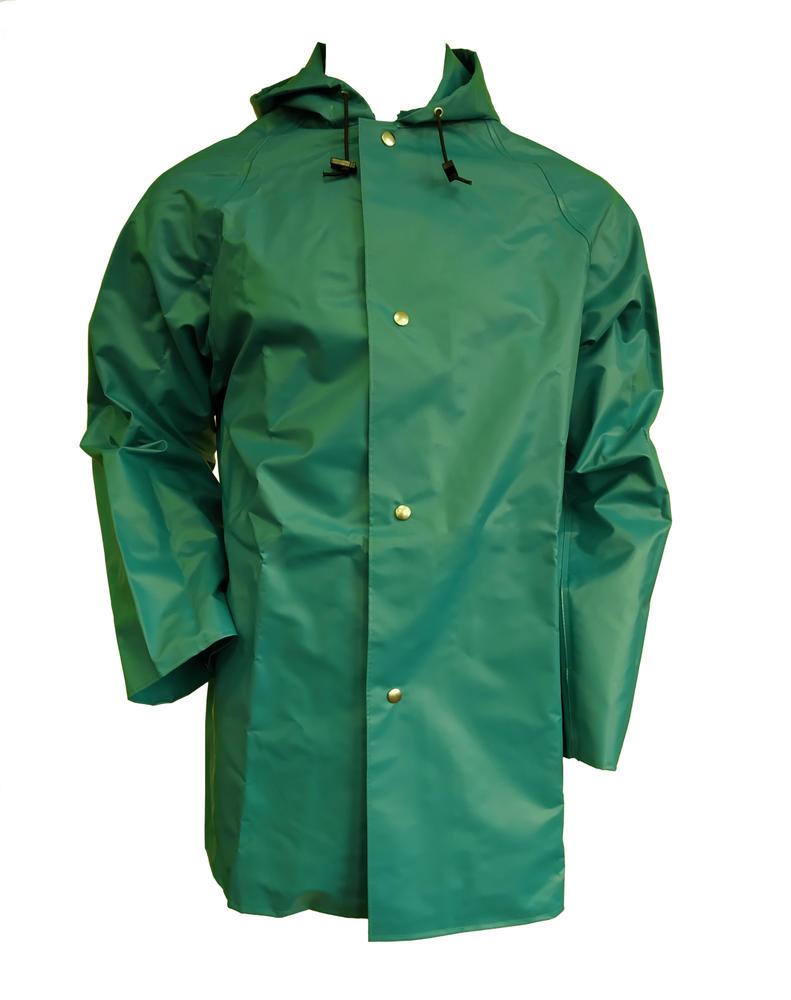 Alpha Solvay Chemmaster CMJH-EW Chemical Resistant Hooded Jacket Green PVC
