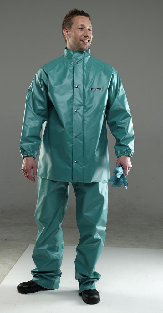 Chemmaster Cmjh Green PVC Jacket C/W Hood