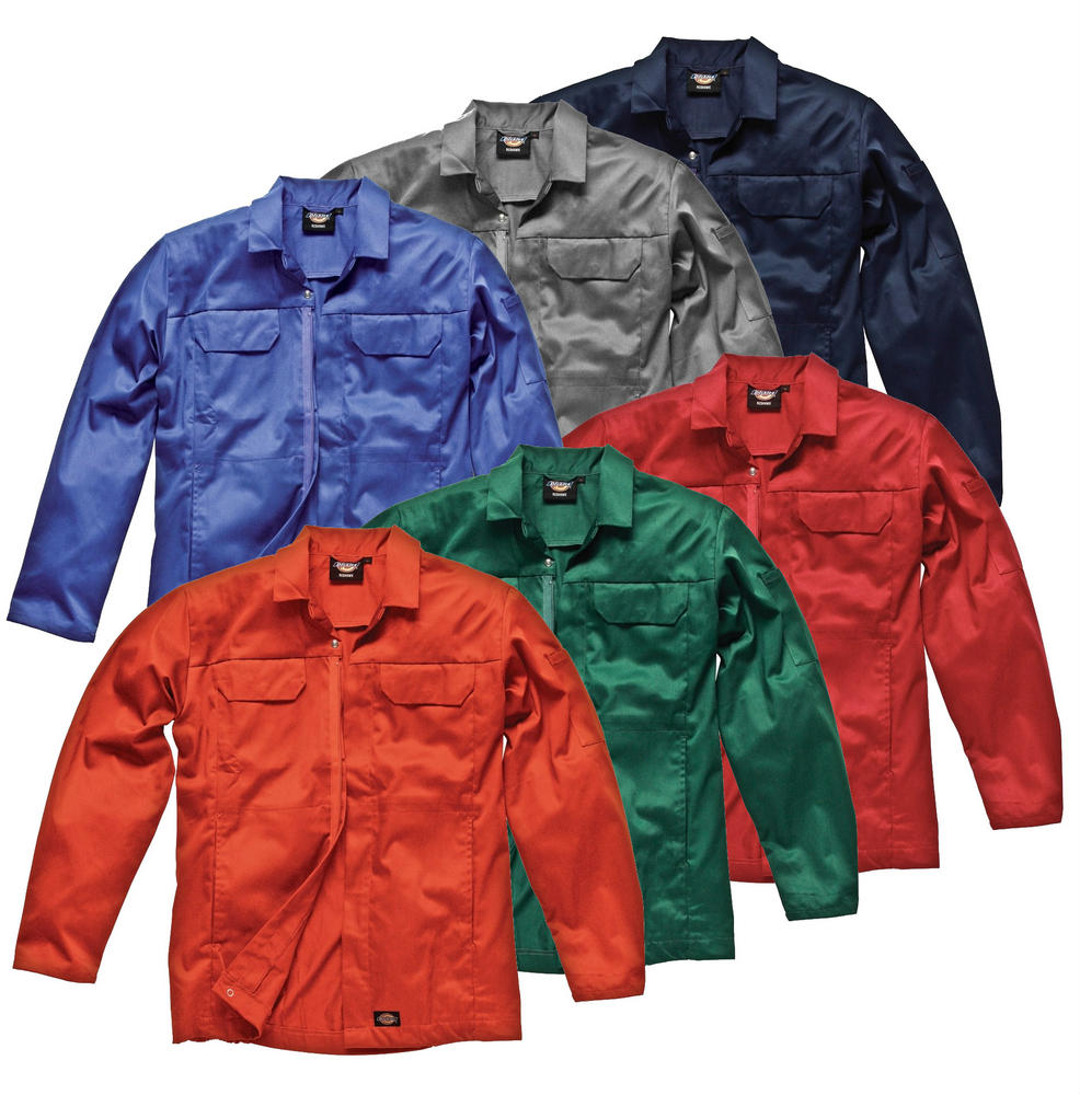 Dickies Redhawk WD954 Men Work Jacket Polycotton Front Zip