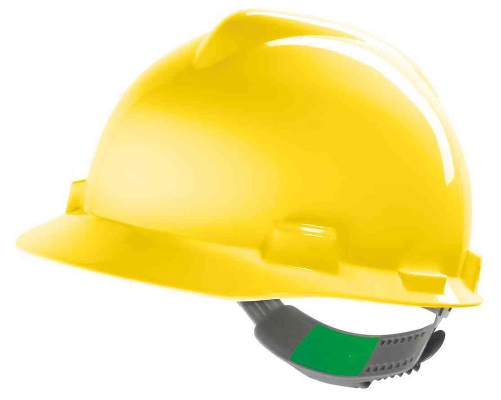 MSA Vgard Gv121 Hdpe Original Yellow Helmet C/W Push-Key