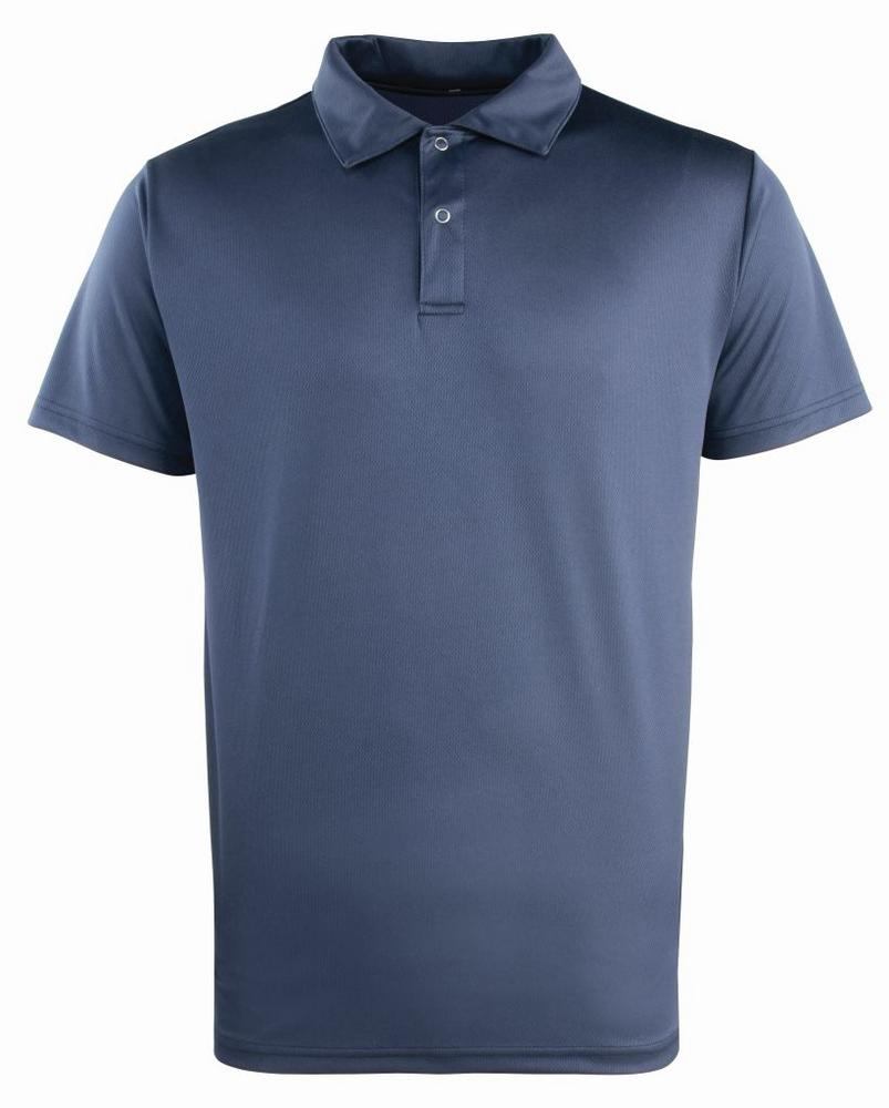 C20 Pr612 Premier Stud Closure Navy Polo Shirt