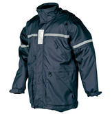 Sioen 194A Membrey Waterproof Reflective Hi Vis Hooded Navy Work Rain Winter Jacket