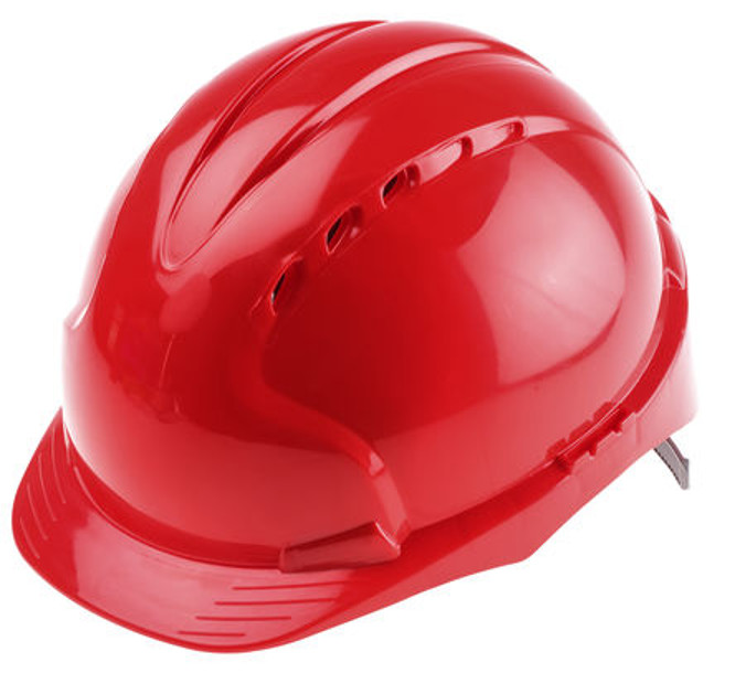 JSP Evo 2 HDPE Isulated Vented Head Protection Red Safety Helmet