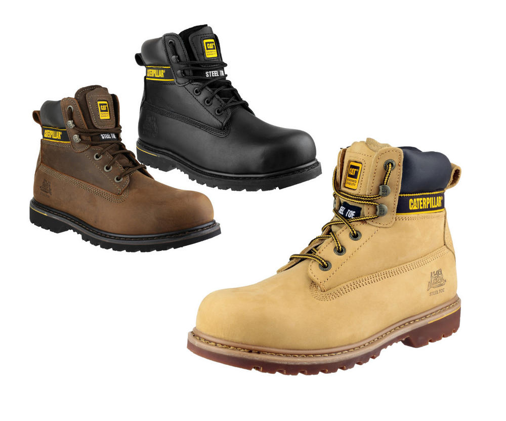 Caterpillar Holton S3 Derby Steel Midsole Safety Boots