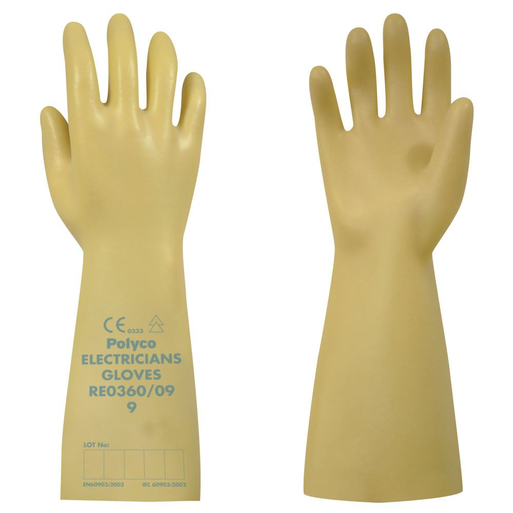 Polyco Re0360 Class 0 Electricians Glove 1000 Volts