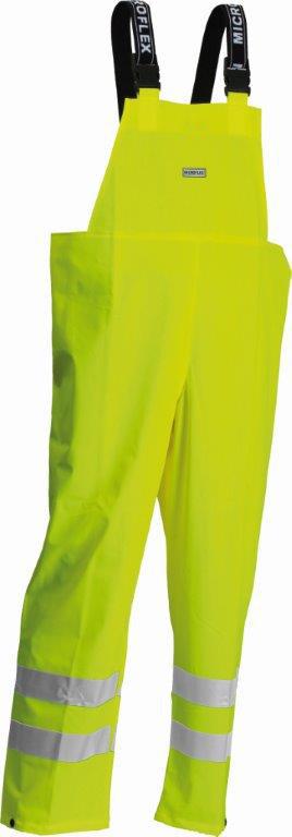 Lyngsoe Microflex Lr59 Salopette Waterproof Hi Vis Yellow Bib & Brace C/W Tape