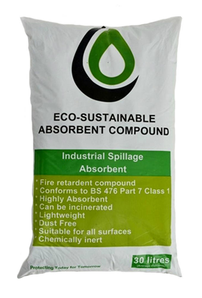 Ecospill Organic Compond Spill Controll Industrial Cellulose Granules 30 Litre Bag U2193060