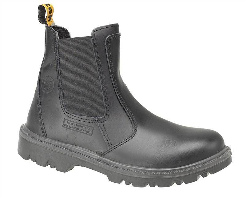 Centek FS129 Black Leather Steel Toe Safety Dealer Boots