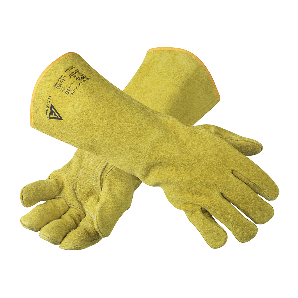 "Ansell Kevlar 43-216 Leather Heavy-duty Workguard Welders 16"" Glove"