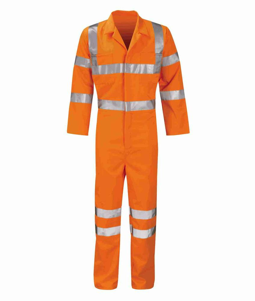 Orbit International PCRTBS Apollo Hi Vis Coverall Polycotton Orange