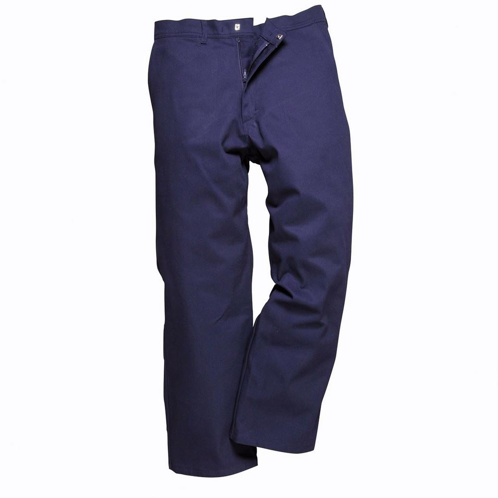 Portwest 100% Cotton S882 Engineers Trousers Navy - Regular or Long (3 Pack)