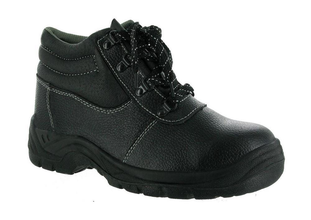Centek FS330 Steel Toe Slip- Resistant Industrial Safety Boot - Black