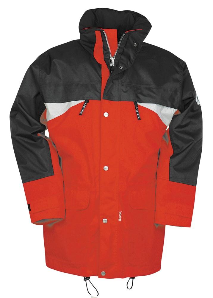 ed447951 Sioen Sepp Black/Red Chamonix Waterproof Windproof Breathable Jacket