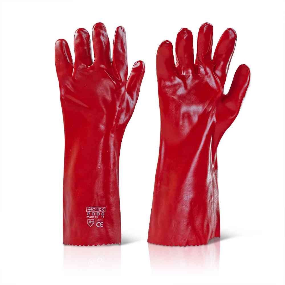 Click 2000 PVCR16 PVC Coating Wet & Oily Grip 16'' - 40cm General Handling Glove
