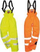 Portwest S781 Bizflame Lined Hi-Vis Antistatic FR Rain Trousers