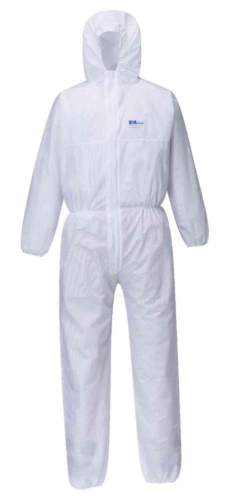 Portwest ST80 White Disposable Coverall SMS FR (Pack of 50)