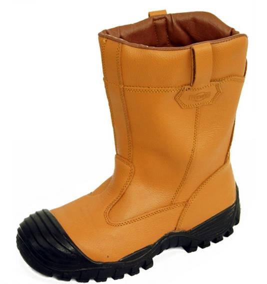 Cofra Castle Cold Protection Steel Toe Cap S3 Tan Furlined Safety Rigger Boot