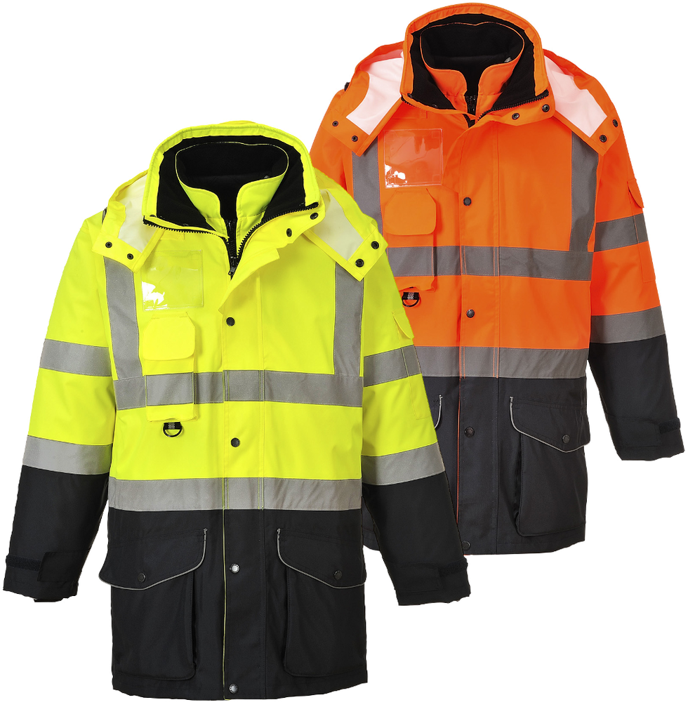 Portwest S426 7 in 1 Waterproof Hi Vis Jacket