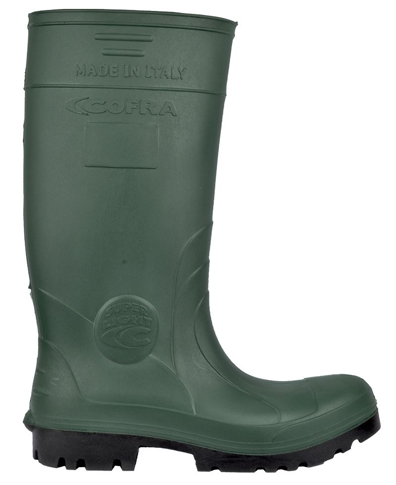 Cofra Hunter Abrasion Resistant Steel Toe Cap S5 Safety Wellington Green PU