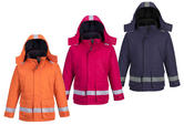Portwest FR59 Flame Resistant Winter Jacket Navy/Orange