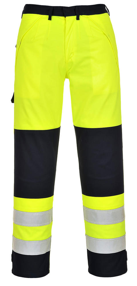 Portwest FR62 Hi-Vis Multinorm Trousers Yellow/Navy