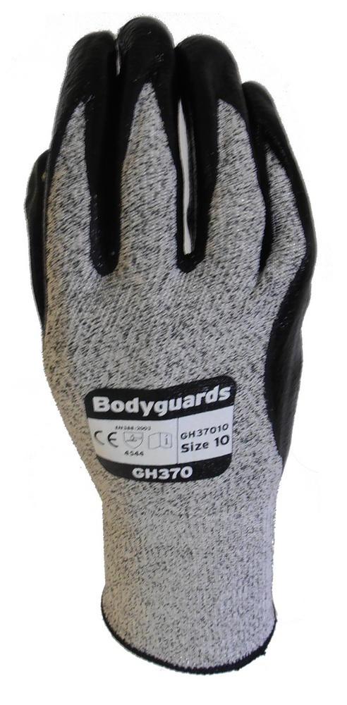 Polyco Bodyguard GH370 Cut Level 5 High Grip Cut Resistant Gloves 4.5.4.4