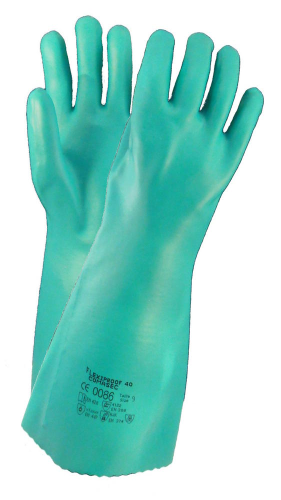 Comasec Flexiproof Nitrile Chemical Protection Gauntlets 40cm