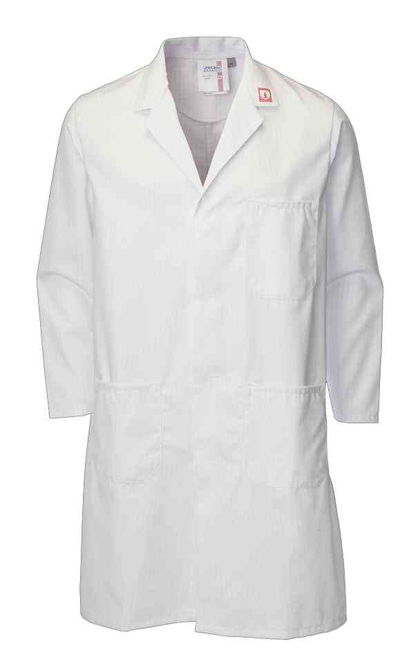 Faithful Ballyclare 449 ESD White Long Laboratory Coat
