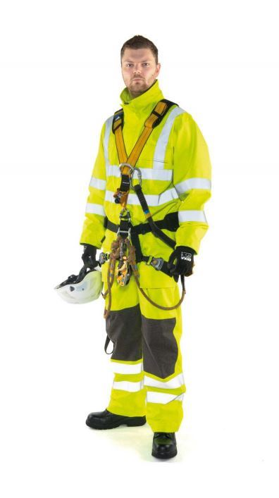 Roots FR / AS Waterproof Coverall Full Option RO1512 Hi Vis Yellow Large