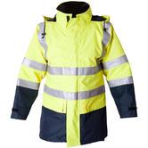 Eagle Technical ETF1901AE Flame Retardant Waterproof FR Hi Vis Yellow Parka Jacket