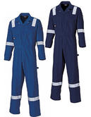 Dickies WD2279LW Lightweight 100% Cotton Hi Vis Royal Blue Coverall