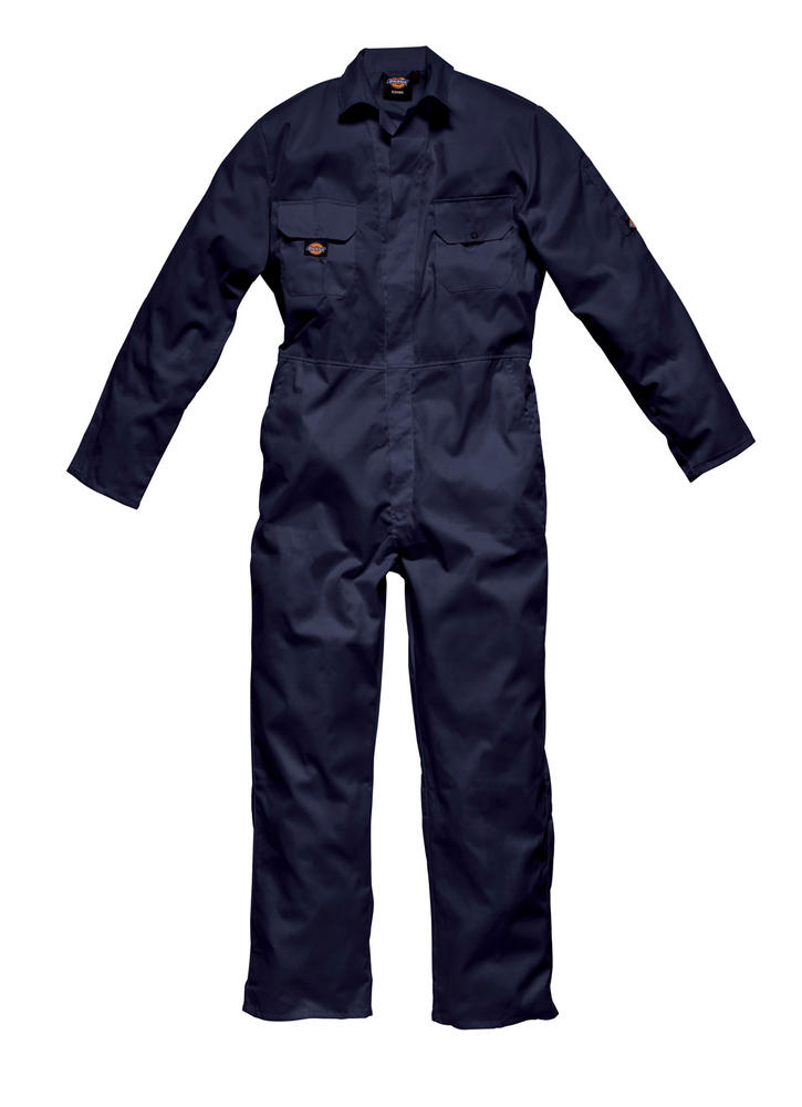Dickies Redhawk Wd4819 Stud Front Navy Reg Leg Coverall