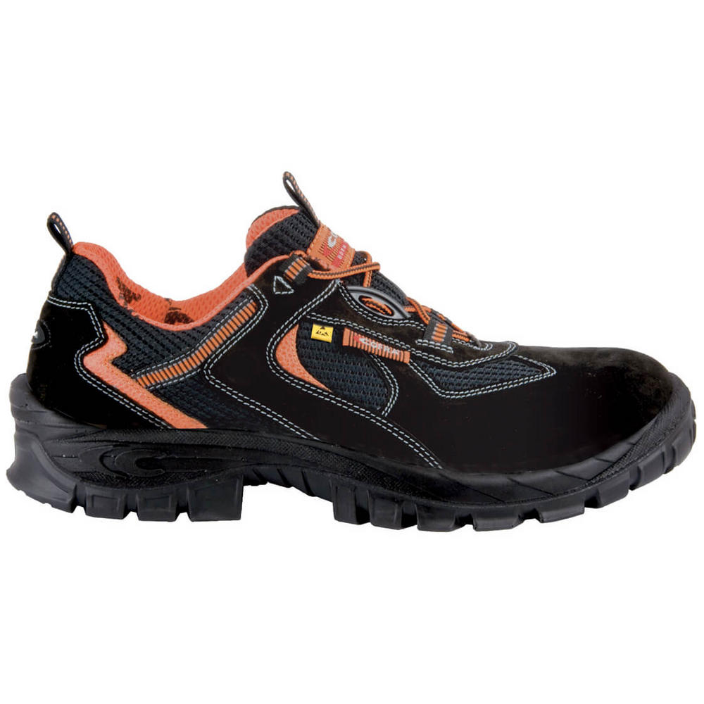 Cofra Megrez Unisex S1 Black Safety Lightweight Metal-free Trainer ESD