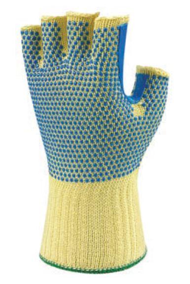 Ansell 70-421 Neptune Fireblade Kevlar Heavy Duty Fingerless Cut Resistant Glove, Size - 9