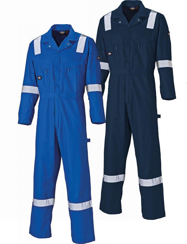 Dickies Hi Vis 100% Hi Vis Front Zip Cotton Navy Coverall WD2279
