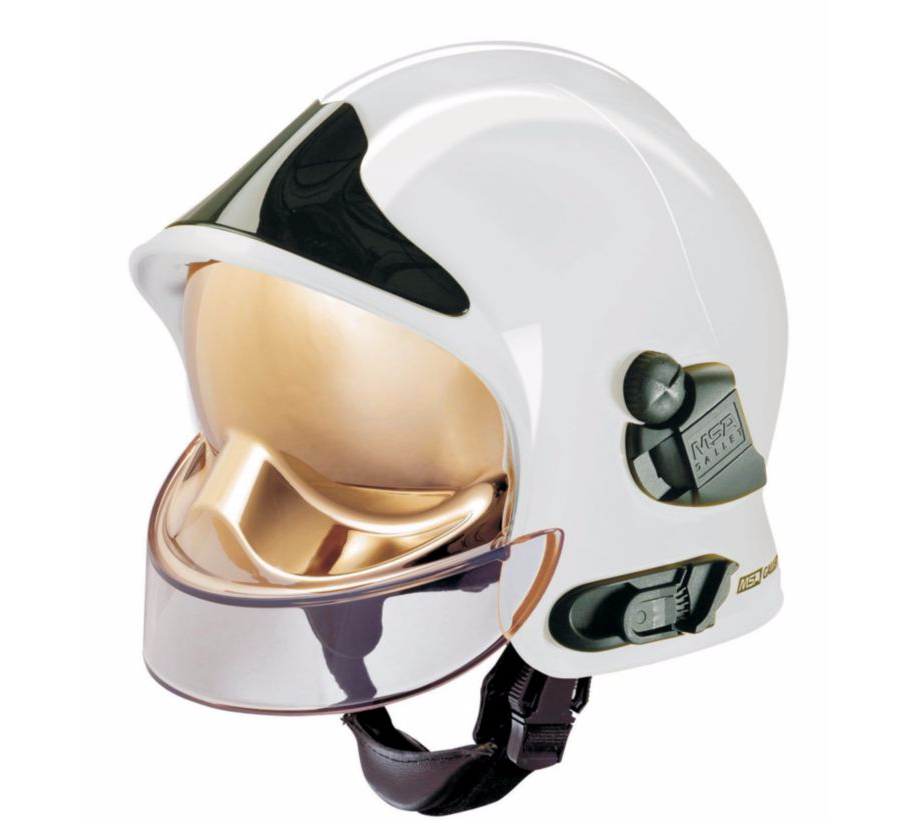MSA F1SF Gallet White Firemans Helmet