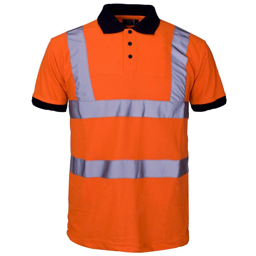 Supertouch 39381 Hi Vis Orange 100% Polyester Rail Workwear Work Polo Shirt