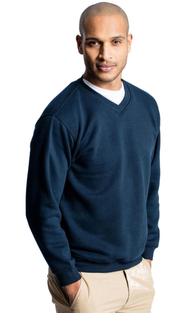 Uneek UC204 Brushed Polycotton Work Uniform Premium V-Neck Sweatshirt