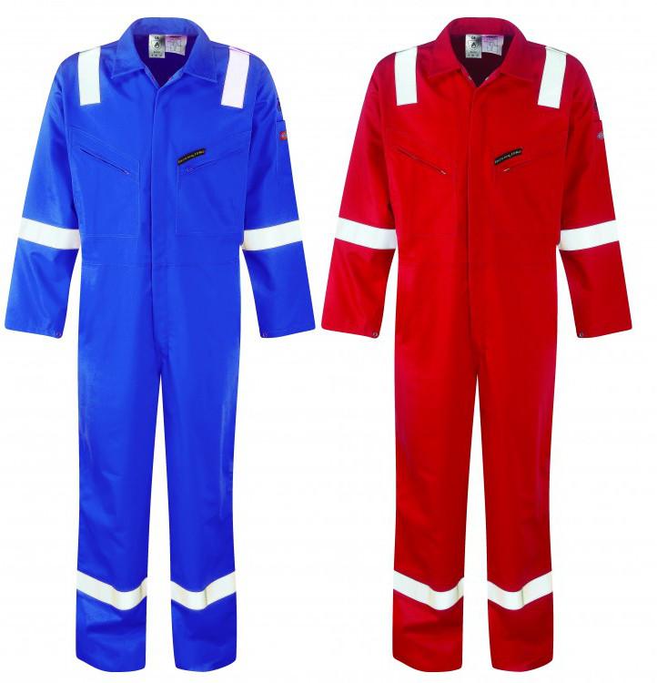 Dickies Wd5050 Pyrovatex Firechief Hi Vis Royal  Blue Coverall Reg Leg