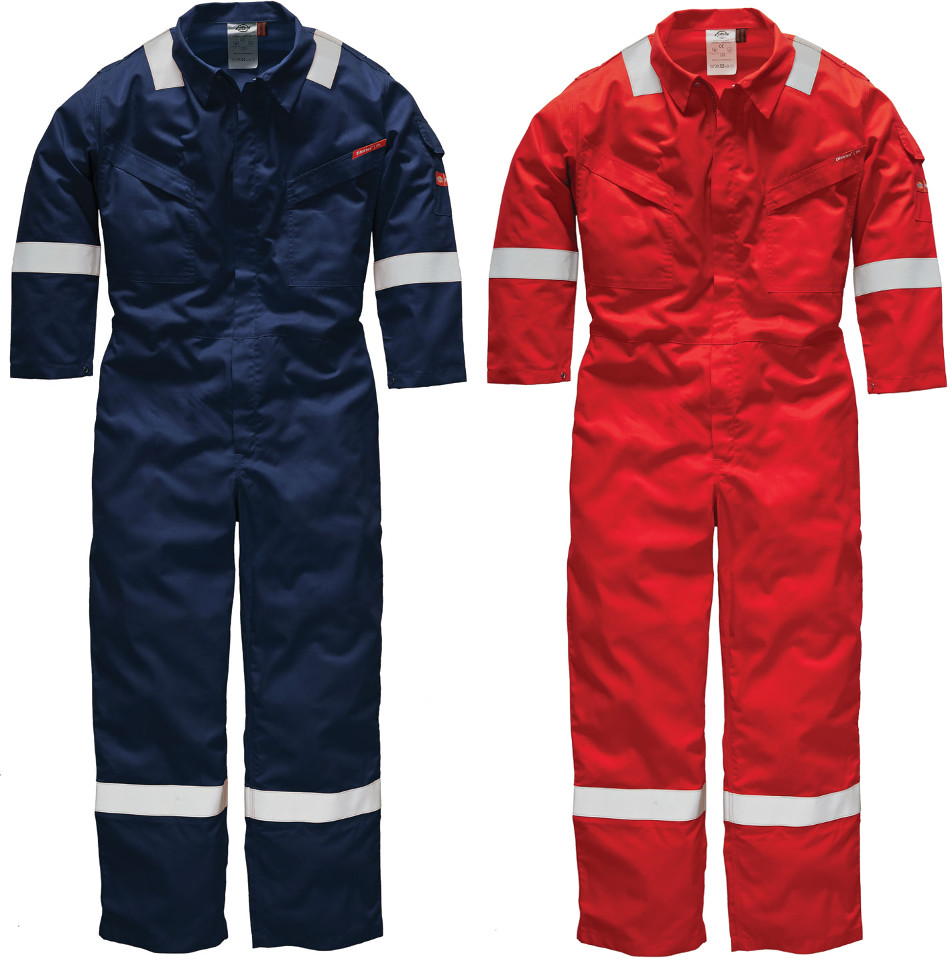 Dickies Fr5402 Pyrovatex 100% Cotton Hi Vis Navy Coverall